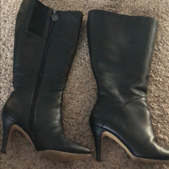 8a70244e033e Wide calf tall leather boots. M 5c55c7f51b329475bf4c5673